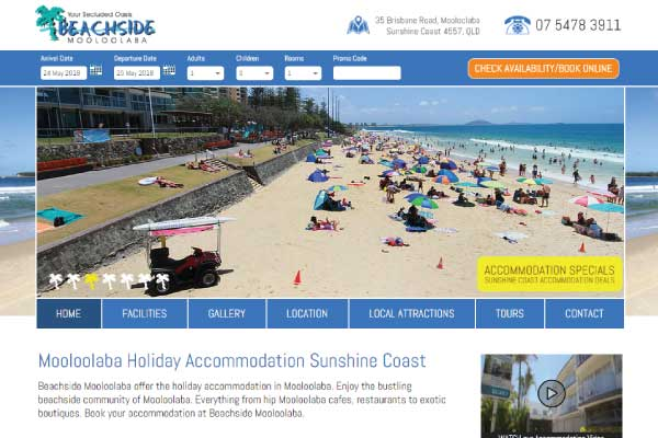 web design sunshine coast beachside mooloolaba