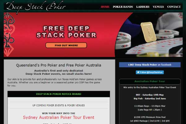 web design brisbane deep stack poker