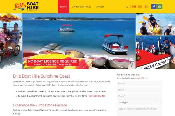 web design caloundra bills boat hire
