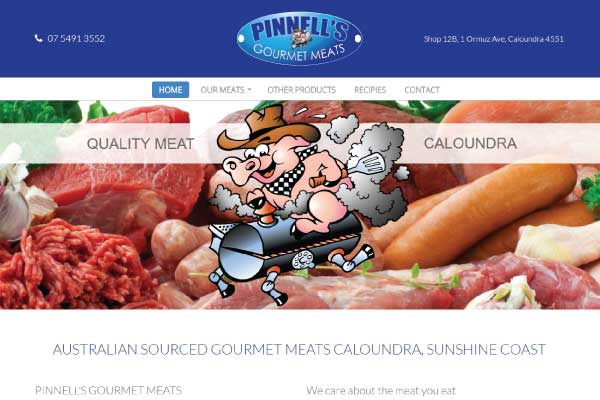 web design caloundra butcher pinnells