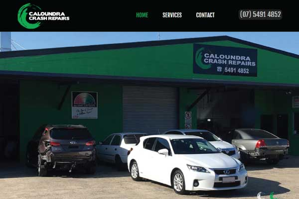 web design caloundra crash repairs
