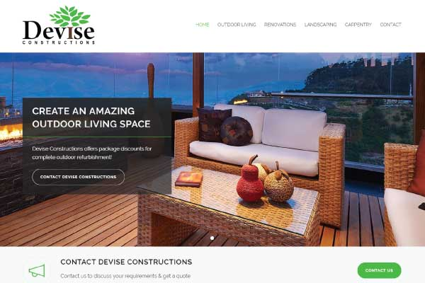web design devise constructions sunshine coast