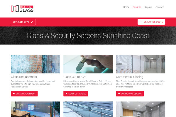 web design discount glass sunshine coast