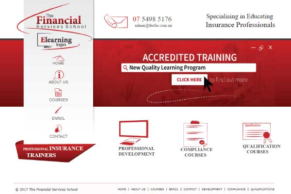 web design financial service school sunshine coast