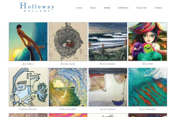 web design holloway gallery sunshine coast