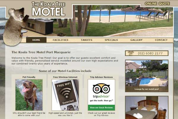 web design port macquarie motel