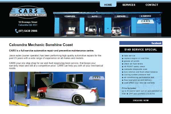 web design sunshine coast mechanic caloundra
