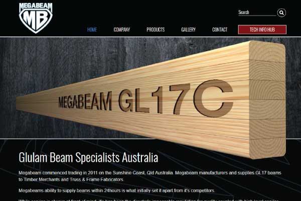 web design megabeam glulam sunshine coast