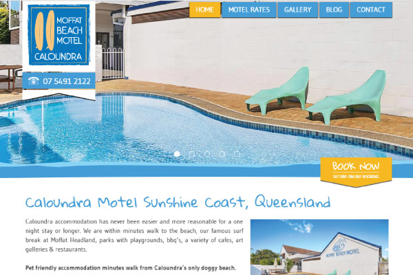 web design moffat beach motel sunshine coast