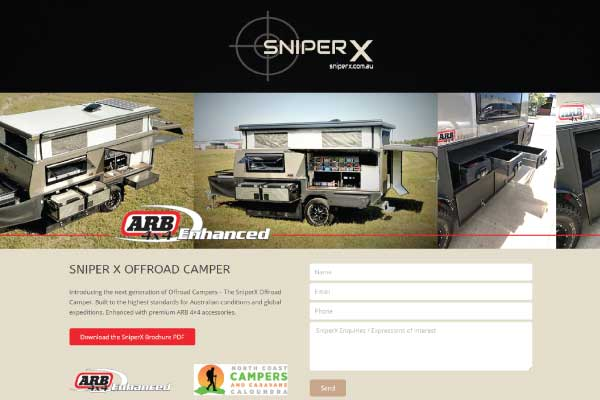 web design queensland sniperx offroad campers