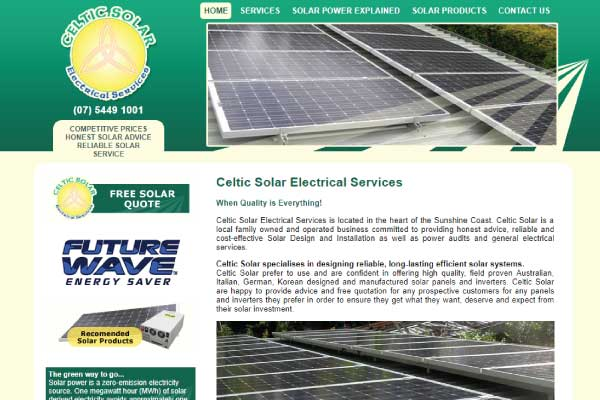 web design sunshine coast solar panels