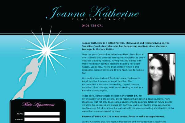 web design sunshine coast clairvoyancy