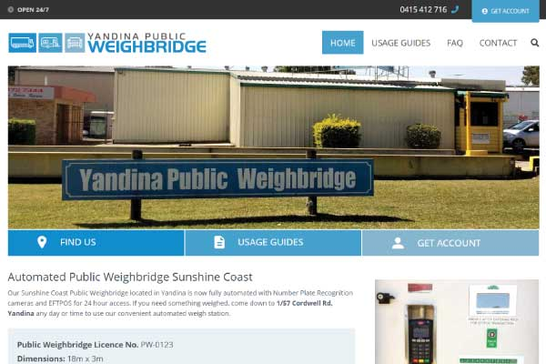 web design yandina weighbridge sunshine coast