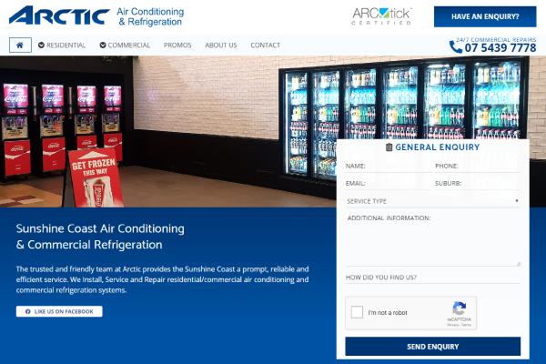 air conditioning sunshine coast website design