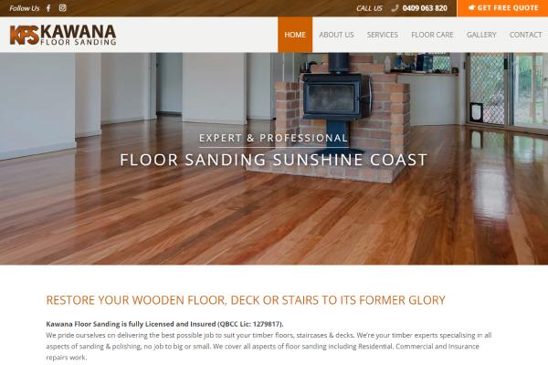 floor sanding sunshine coast website design
