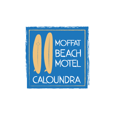 logo design sunshine coast moffat beach motel