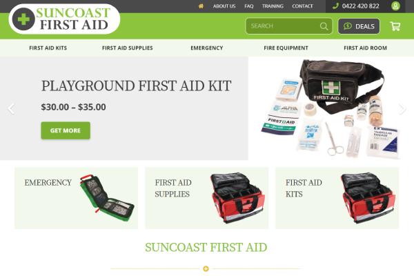 shopping cart web design sunshine coast first aid