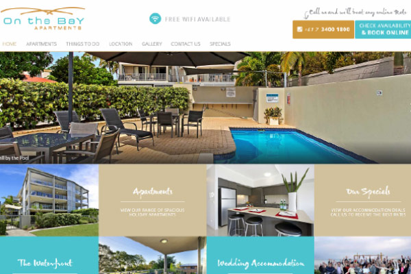 web design apartments bribie island
